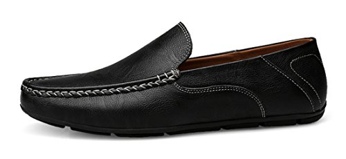 Shoes Black Casual Loafers Comfort Top Men's Penny Driving Low Dress Leather Business TDA qtwP7gg