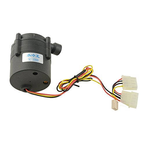 BXQINLENX SC1000 DC 12V PC CPU Water Cooling System Tool Water Pump 264.18 GPH 18W 1.5A Brushless Mgc Drive Water Pump for Destop Computer Laptop Computer