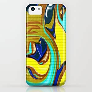 Society6 - Abstract Fluid Mosaic Pattern In Blue And Brown iPhone & iPod Case by Jessielee