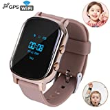 Hangang Kids Smart Phone Watch, GPS Kids Tracker with Touch Screen,SIM Slot, Smartwatch