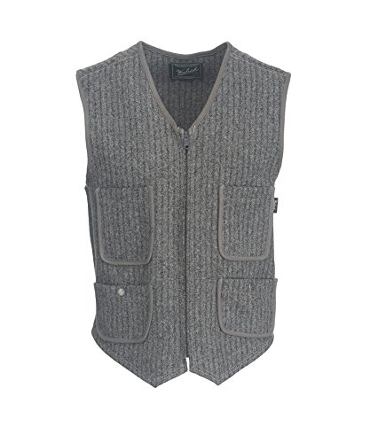 Woolrich Men's Utility Washable Wool Vest, GRAY HEATHER (Gray), Size L