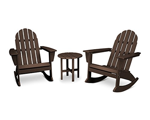 POLYWOOD Vineyard 3-Piece Adirondack Set (Mahogany) Review