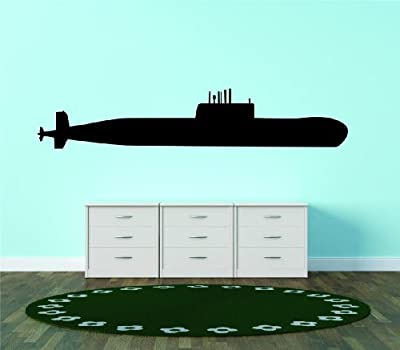 Military War Airplane Army Navy Submarine United States Of America Bedroom Living Room Picture Art Graphic Design Image Vinyl Wall Decal Peel & Stick Sticker Mural Size : 8 Inches X 32 Inches - 22 Colors Available
