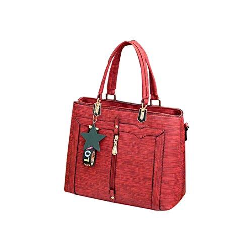 OverDose Cuir Rouge Coloré Sac à Bag Femme Été Sacs Hand Chic Bandoulière Tote Bag Main WtvqUIC6U