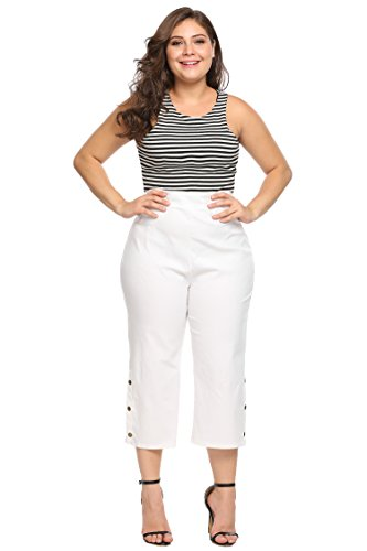 White Cotton Capris - 8
