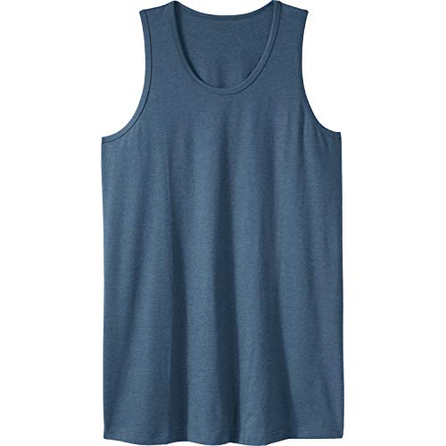 - KingSize Men's Big & Tall Longer-Length Shrink-Less Lightweight Muscle Tank, Heather Slate Blue Tall-XL