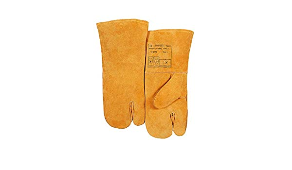 Amazon.com: Index Finger Welding Gloves, Cow Two Layers, Argon Arc Welding Protection Work Glove,Yellow-35cm: Home & Kitchen