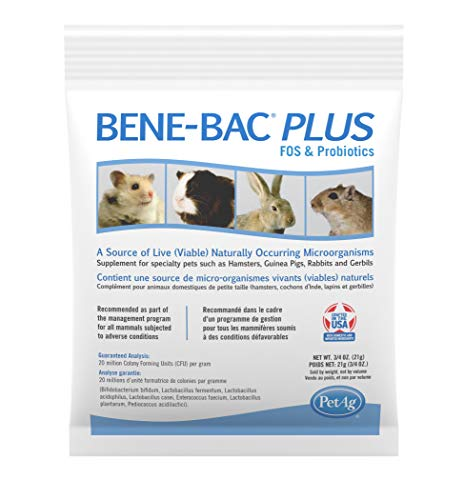 PetAg Bene-Bac Plus Small Animal FOS Prebiotic and Probiotic Powder