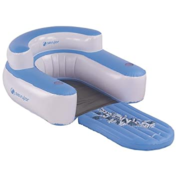 Coleman Sevylor Convertible Inflatable Water Lounge Chair   Blue_Not  Applicable