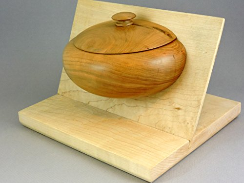 (Cherry container split by maple insert.)
