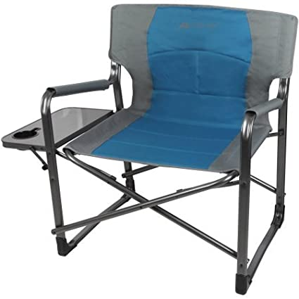 Big Boy Director Extra Wide Chair With Comfortable Padded Seat And Armrest,  Foldable Side Table