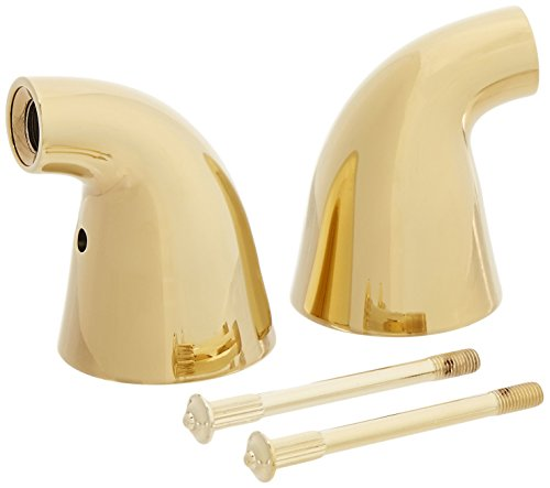 Innovations Bath Faucet Handle Base (Delta Faucet H64PB Innovations Two Metal Lever Handle Kit, Polished Brass)