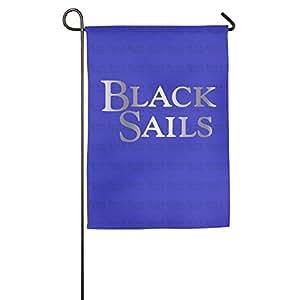 Negro velas Logo Platinum estilo bandera de Jardín