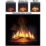 JYWIN-Stufa-elettrica-Riscaldatore-di-Ambienti-con-Realistico-Effetto-Fiamma-3D-Termostato-di-Sicurezza-Riscaldamento-Camino-Caminetti-indipendenti-Fiamma-Regolabile-Colore-e-velocita