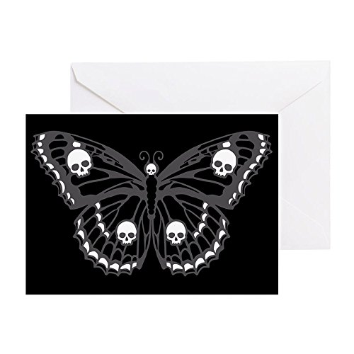 - CafePress - Gothic Skull Butterfly - Greeting Card, Note Card, Birthday Card, Blank Inside Matte