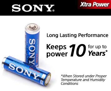 - SONY S-AM4B24A Stamina Plus Alkaline Batteries AAA 24 Pack