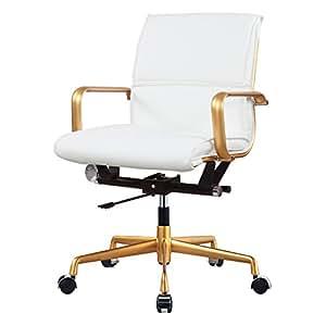 Amazon Com Meelano 330 Gd Whi Vegan Leather Office Chair