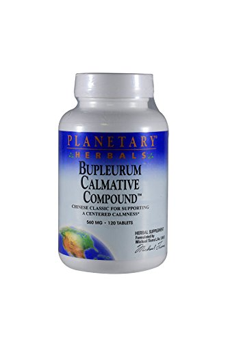 Planetary Herbals Bupleurum Calmative Compound, 560 mg, Tablets, 120 tablets (Pack of 2)