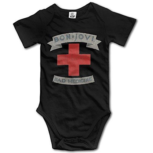 - Bon Jovi Bad Medicine Unisex Boys Girls Short Sleeve Bodysuit Snapsuit