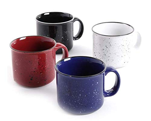 Small Speckled - Gibson Home (Altaic) Speckled 17 oz Mug Enamelware Coffee Mug Assortment (4)