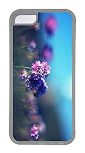 iPhone 5C Case, Customized Protective Soft TPU Clear Case for iphone 5C - Light Flower Cover