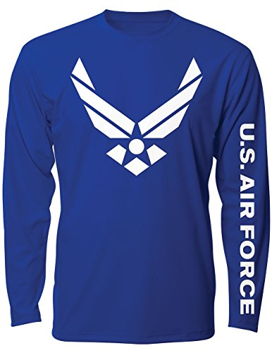 CloseoutZone US Air Force Military Long Sleeve T-Shirt - Logo Sleeve - Long Sleeve Brotherhood