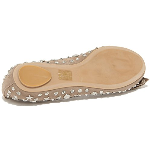 donna JEFFREY ballerina BORCHIE CAMPBELL Beige shoes STARS 78360 HALEY women scarpa 50ZgFqwqx