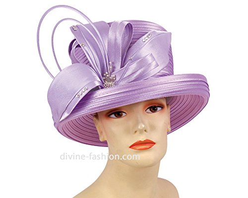 Women's Church Hats, Derby Hats, Dressy Formal Hats #1142 (Lilac) by Ms. Divine Collection