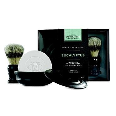 Caswell-Massey Eucalyptus Shave Soap in Bowl and Pure Badger Brush