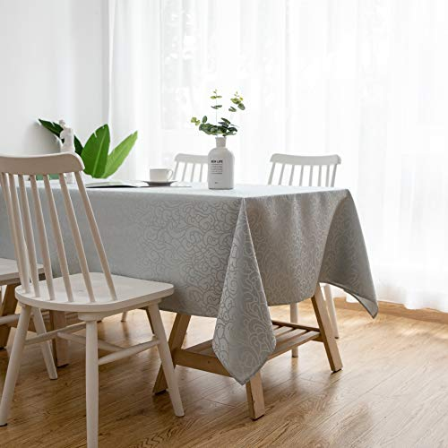Aquazolax Rectangle Tablecloth Fabric Table Cover - Stain Resistant Table Protector Perfect for Kitchen Dinning Room, 60