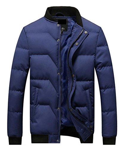 Basic Mens Stand Outwear today Thicken Blue Down Puffer Jackets UK Lightweight Neck w5TTqaExg
