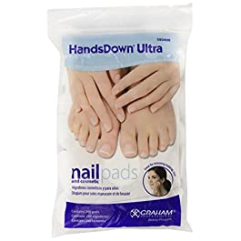 Graham Hands Down Ultra Nail and Cosmetic Pads, 240 Count