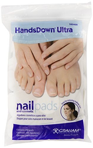 Graham Hands Down Ultra Nail and Cosmetic Pads, 240 Count (Hands Down Ultra Nail)