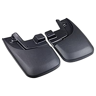 Premium Heavy Duty Mud Flaps Set of 4 - Splash Guard Flaps - Fits Toyota Tacoma with OEM Fender Flares Year 2005, 2006, 2007, 2008, 2009, 2010, 2011, 2012, 2013, 2014, 2015 Rear, Front, Left and Right: Automotive