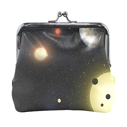 DERLONKAJE Coin Purse Space Planet Galaxy Earth Womens Wallet Clutch Bag Girls Small Purse
