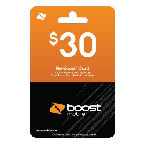 Boost Mobile $30.00 Reboost Prepaid Refill