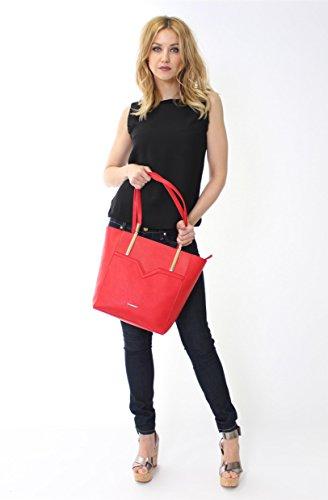 borsa shopping Valentino colore rosso