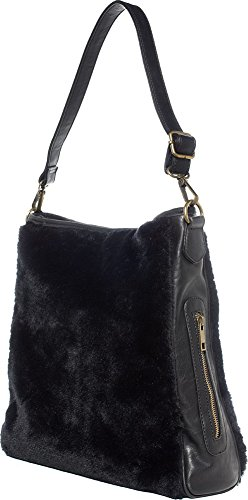 Fur Black Sourpuss Brand Purse Hobo Sure Faux 5ttgrfq