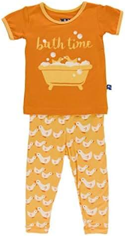 KicKee Pants Baby Boys' Print Long Sleeve Pajama Set