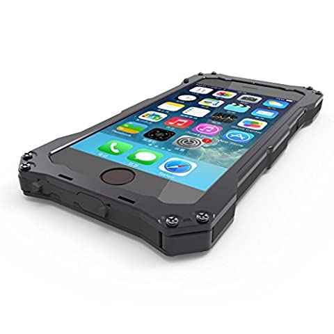 iPhone 6 Plus Case, SCENG [ALUMINUM BUMPER] iPhone 6 Plus Metal case [Science Hybrid Premium Metal] Full-Body Aluminum Structures with Silicone - Water Resistant / Dirt / Shockproof / Dust Proof Military Heavy Screen Protector - Hard Aluminum Dual Layer Protective Case for iPhone 6 Plus (5.5) (Iphone 6 Plus Military Metal Case)