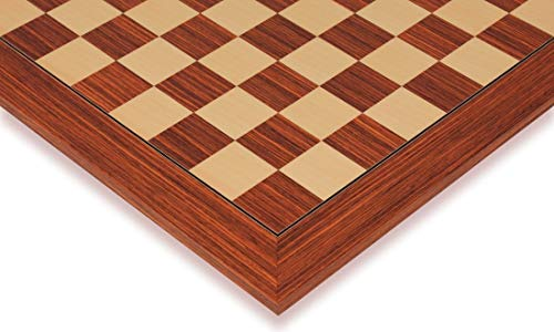 Rosewood & Maple Deluxe Chess Board - 2.375