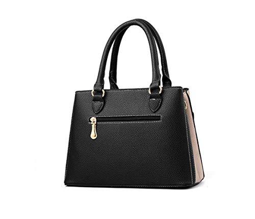Handbags Khaki Tote RFVBNM Fashion Women Satchel Leather Purse PU Women Handbag Classic Purse Black Handbag Ladies for Z6qwZOUr