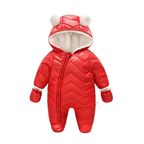 62d1b958f JanLEEsi Baby Boy Girl Winter Hooded Snowsuit Romper Zipper Padding ...