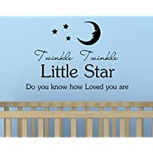 Twinkle twinkle little star do you know how loved you are Vinyl Wall Art Inspirational Quotes Decal Sticker
