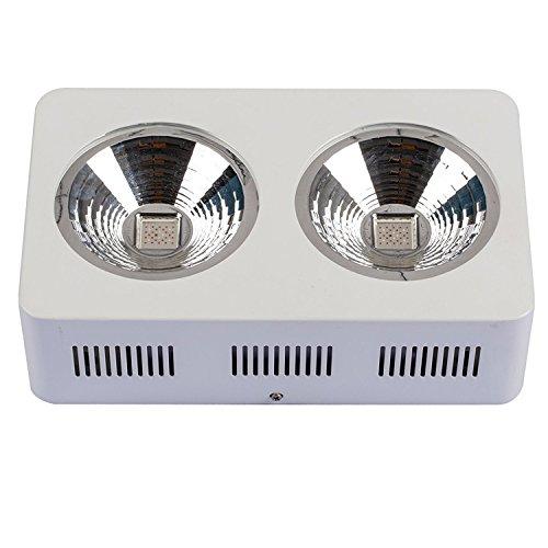 Jer COB LED Grow Light Full Spectrum, HYG05-2x200W Integrated LED Grow Light for Vegetable and Flower, Greenhouse Growing Lamp Kit, 400W