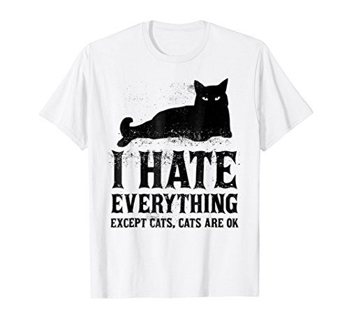 Pastel Goth Kawaii Punk I Hate Everything Except Cats Tee