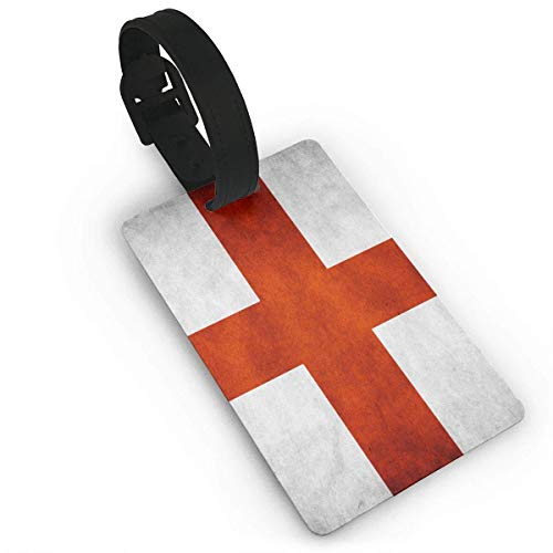 BJtiananmen Vintage St George's Cross England Flag Suitcase ID Tags - Quickly Spot Luggage Tags Travel Accessories size 3.7in X 2.2in