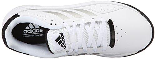 Scarpa Da Basket Adidas Performance Mens Cloudfoam Ilation Bianco / Argento Metallizzato / Nero
