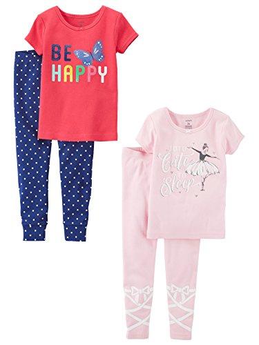 Carters Baby Girls Toddler 2-Pack 2 Piece Cotton Pajamas