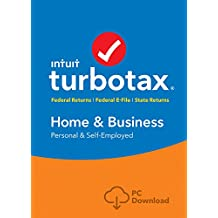 TurboTax Home & Business Tax Software 2017 Fed+Efile+State PC Download [Amazon Exclusive]